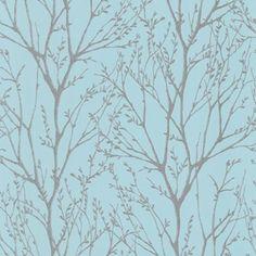 I Love WallpaperTM Shimmer Wallpaper Teal / Silver (ILW980006)