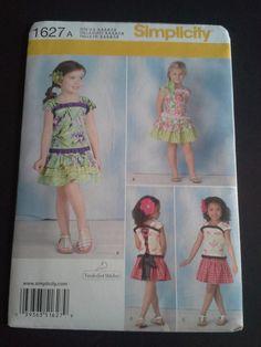 Simplicity 1627A 1627 girls top and skirt by BloomingRoseCrochet