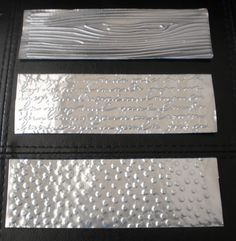 Embossing, die cutting and punching self-adhesive aluminum tape (usually used to seal forced air heating ducts)