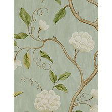 Snow Tree by Colefax and Fowler - Aqua - Wallpaper : Wallpaper Direct Aqua Wallpaper, Cream Wallpaper, Fabric Wallpaper, Chinoiserie Wallpaper, Wallpaper Online, Oriental Wallpaper, Classic Wallpaper, Colefax And Fowler Wallpaper, Cole And Son