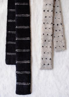 Laura's Loop: Father and Son KnitTies - Knitting Crochet Sewing Crafts Patterns and Ideas! - the purl bee