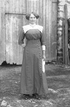 elegante en tenue du dimanche, vers 1914