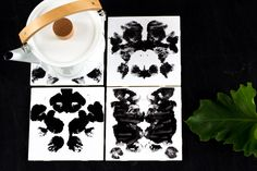 DIY Rorschach Inkblot Trivets | Pretty Prudent | Click here for the tutorial