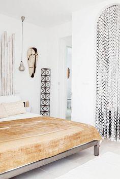 Tour a Bright-White Home Overlooking the Mediterranean via @mydomaine