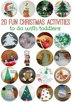 20 FUN Christmas Activities to do with kids - I want to do some of these this year!