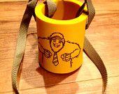 The Neck Coozy, Koozy Neclace, Koozy with a strap, hands free koozy, Party essential, Bigfoot, Sasquatch.