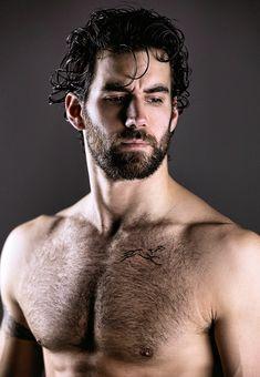 Hairy Hunks, Hot Hunks, Hairy Men, Bearded Men, Male Chest, Beard Tattoo, Handsome Faces, Male Form, Fine Men
