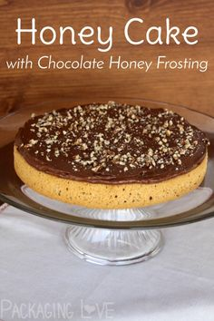 Treat someone you love to a simple and flavorful honey cake with chocolate honey frosting for a celebration fit for royalty!