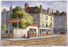 Old Goat and Compasses Inn, Marylebone Road,  by JT Wilson