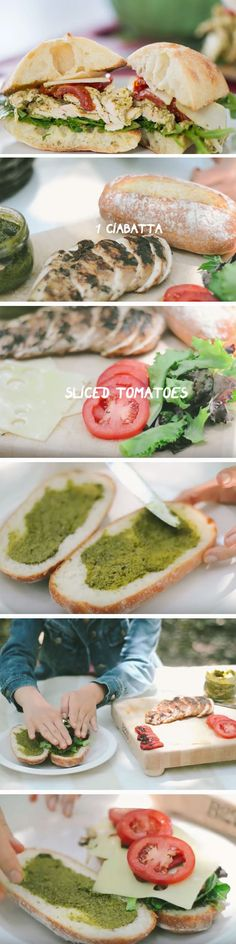 Chicken Pesto Sandwich | 20 Picnic Ideas for Couples Date Nights that you will…