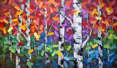 Autumn aspen birch tree painting,  paintings for sale, Melissa McKinnon.