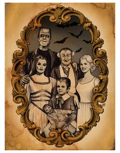 The Munsters 8x10 signed print with border by bsmithereens on Etsy, $20.00