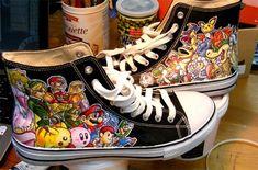 "Custom ""Nintendo All-Stars"" Painted Shoes"
