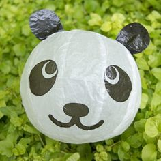 party favor idea for a kids' birthday. Japanese paper balloons.