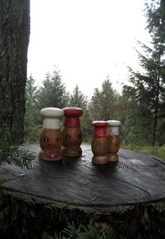 So cute! Vintage Mr. and Mrs. Bunny Chef Salt and Pepper Shakers from HeartSmileFarms on Etsy