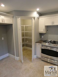 Hidden pantry doors to match the cupboards