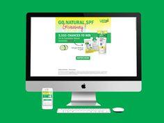 Yes To Cucumbers son productos de belleza naturales, y sortearon kits de belleza para quienes se registraron. Se hizo el diseño de la página web en HTML.  Año 2013.