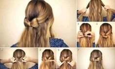 Pinning long hair