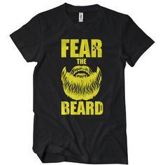 fear the beard brett keisel t shirt image