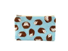 Adorable Hedgehogs on this Mini Zipper Pouch - in my favorite color combo, dark brown & light blue!by thepurplehedgehog, $7.50