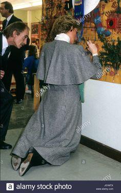 January 2 1988 Princess Diana visiting Thomas Parker School at Telford