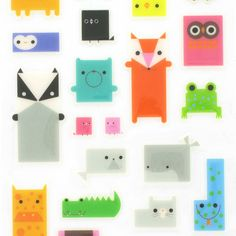 box face animal stickers from Paperchase