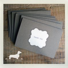 Thank You Note Cards Set of 8 by PickleDogDesign on Etsy, $10.00