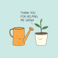 Thank you for helping me grow! Framed Art Print by Milkyprint - Vector Black - MEDIUM Funny Doodles, Cute Doodles, Cute Cards, Diy Cards, Teacher Appreciation Quotes, Funny Food Puns, Love Puns, Thank You Teacher Gifts, Succulent Gifts