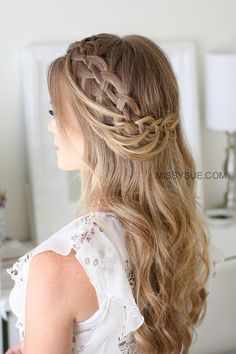 wavy, loose + artsy crown braid