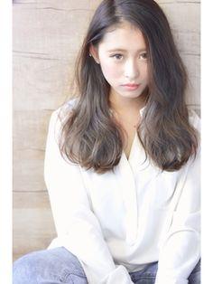 hair style for asians. dark hair/ gradation/ ash/ gray