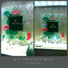 #rolex #watches #window #display in #sf #unionsquare #sanfrancisco