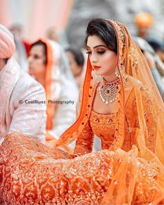 10 Orange Lehengas that prove & is the New Red& when it comes to Bridal Lehengas! is part of Indian bridal lehenga Orange is one colour which looks good on all Indian skin tones If you too ar - Indian Bridal Outfits, Indian Bridal Lehenga, Indian Bridal Wear, Bridal Dresses, Bridesmaid Dresses, Indian Wear, Bridal Sarees, Indian Attire, Indian Style