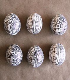 Best Easter Egg Decorating Ideas Sharpie Doodle Egg Alisa Burke