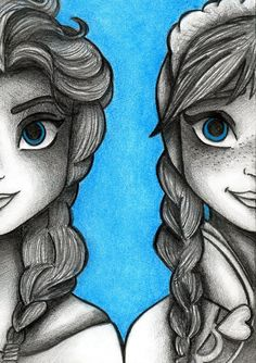 Elsa and Anna, love to draw B and C like this