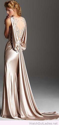 Champagne dress 1920s fashion