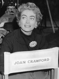 "Joan Crawford on the set of ""The Story of Esther Costello"", (1957)."