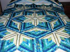 Diamond Log Cabin Star quilt pattern