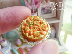 Tarte aux abricots - Apricot tart - Miniature Food in 12th Scale
