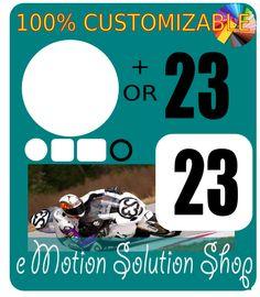 Sticker autocollant fond et ou numéro de course Moto à personnaliser