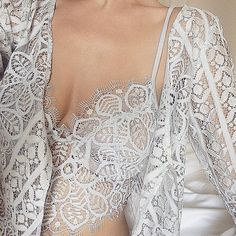 Pretty lace details in the Penelope Bra and Robe  @adrianacanepa #forloveandlemons #downtoyourSKIVVIES