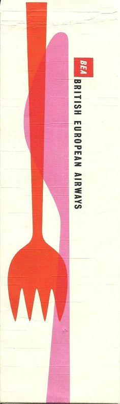 Vintage British European Airways BEA Poster / #kitchenware #cutlery via @helloppomme