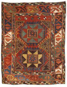 A late 18th Century Turkish Yörük (Nomadic-Tribal) Rug from Konya (Central Anatolia), Turkey. Size (171 cm x 134 cm).