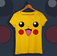 Camiseta Pikachu na Doppel Store. Pokemon Birthday, Pokemon Party, Pikachu, Harry Potter Magic, Science Toys, Nerd Gifts, Shirt Blouses, T Shirt, Too Cool For School
