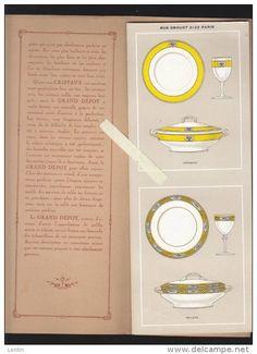 Catalogue - Le Grand Dépot, rue drouot Paris  - Porcelaine, Service de Table -  16 modèles rehauts Or