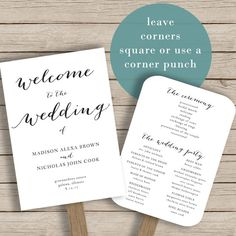 This Wedding Program Template Is Available For Instant Download As