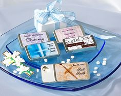Personalized Baby Christening Slide Mint Tin Favors