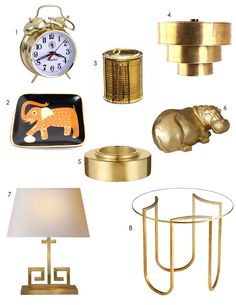 Midas Touch: Classic Glam Gold Accents Decor Style Source List
