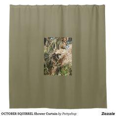 OCTOBER SQUIRREL Shower Curtain