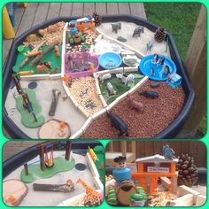 Zoo small world Nursery Activities, Animal Activities, Sensory Activities, Preschool Activities, Dear Zoo Activities, Sensory Table, Sensory Bins, Sensory Play, Tuff Spot