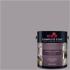 Kilz Complete Coat Interior/Exterior Paint & Primer in One #LA250-02 Pigeon Gray